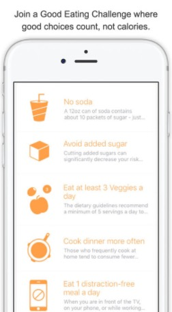 Foodstand: I just recently discovered this app, and I am so glad I did! It allows you to set food goals for yourself (cutting back on soda, eating less meat, drink 8 glasses of water a day, etc.) and stay on track!