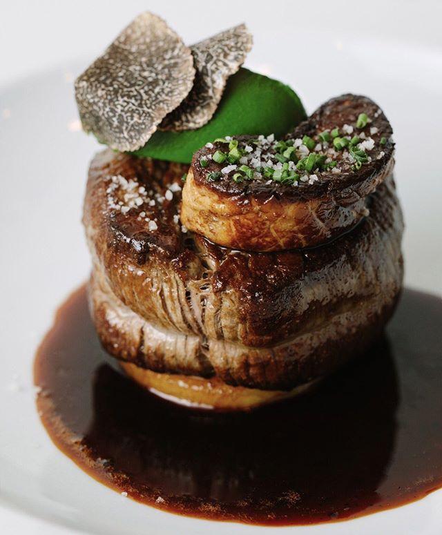 Rib Eye of American Wagyu Beef with seared Foie Gras, Potato Fondant, Arrowleaf Spinach Purée & Sauce Perigourdine. . . . . . #chefstalk #cheflife #chefsofinstagram #artofplating #france #foodbeast #eeeeeats #eatfamous #feedfeed #dailyfoodfeed #onthetable #lifeandthyme #f52grams #tastingtable #huffposttaste #heresmyfood #buzzfeast #eattheworld #eater #foodandwine #foodblogfeed #beautifulcuisines #tastemade