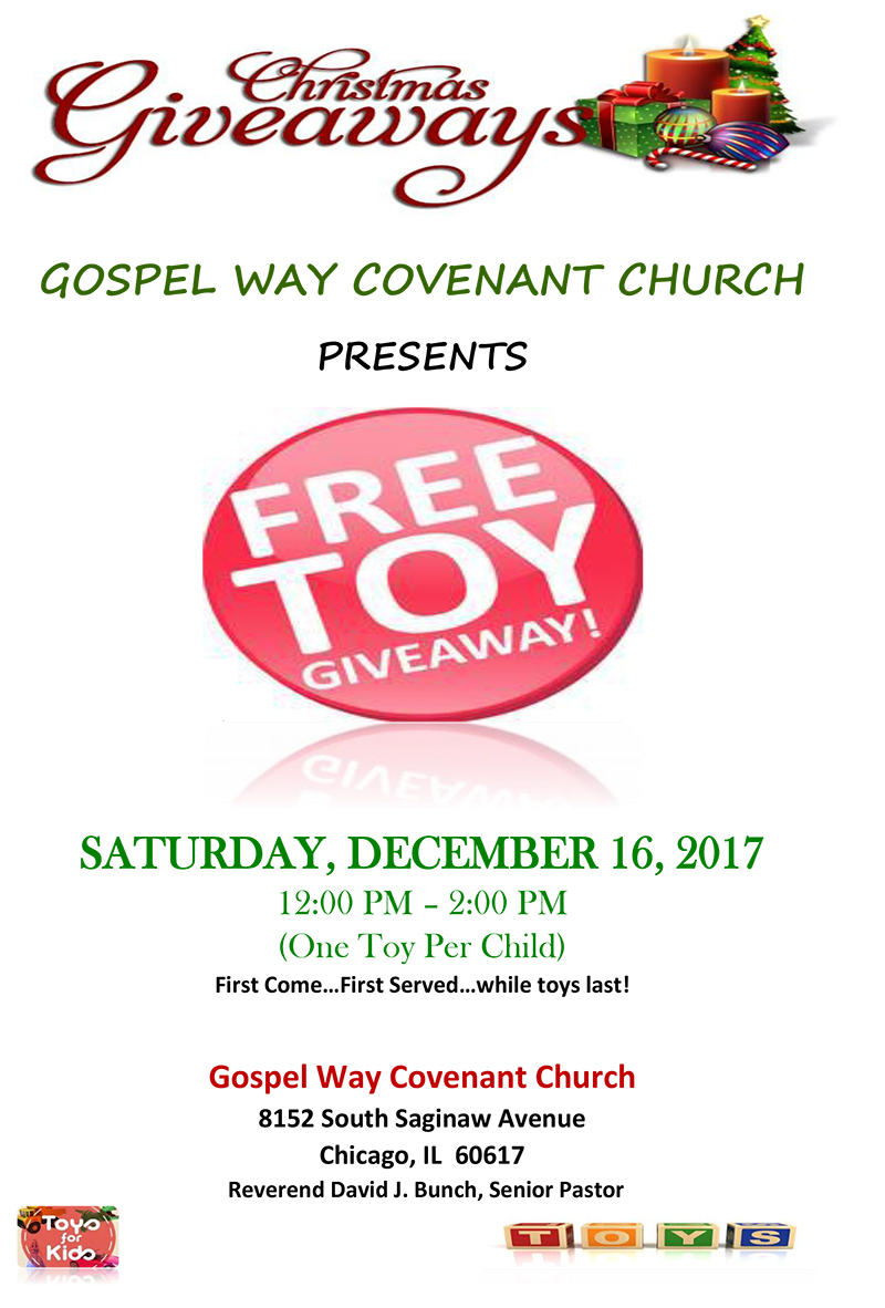 Christmas Giveaway Flyer.Gospel Way Covenant Church Presents Free Toy Giveaway