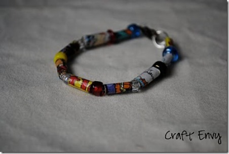 7 comic strip bracelet