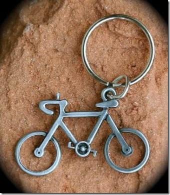 Bike keyring