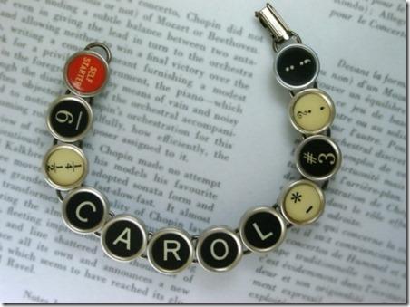 打字机钥匙项链
