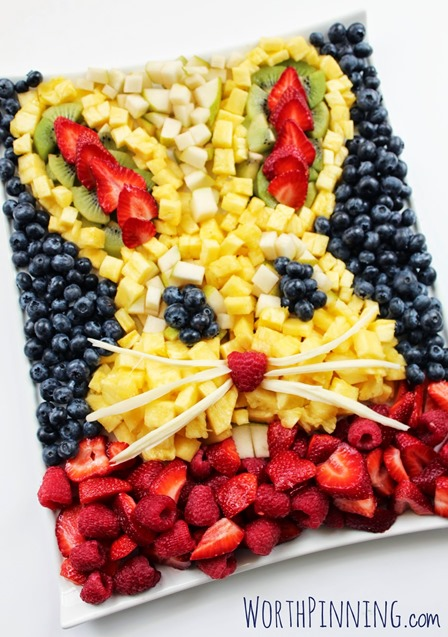 Bunny Head Fresh Fruit Platter from Worth Pinning