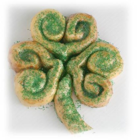 Cinnamon Shamrock from Rhodes Bread