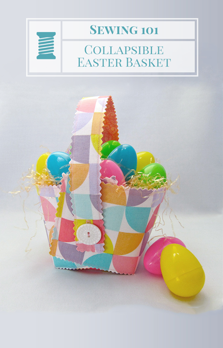 Collapsible Easter Basket from Shrimp Salad Circus