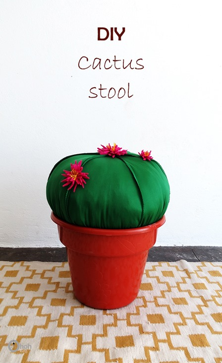 DIY Cactus Stool from Oh Oh Blog