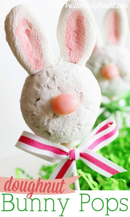 Donut Bunny Pops from Positively Splendid