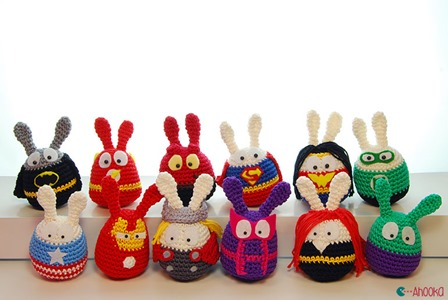 Easter Superhero Crochet Amigurumi from Ahooka Amigurumi