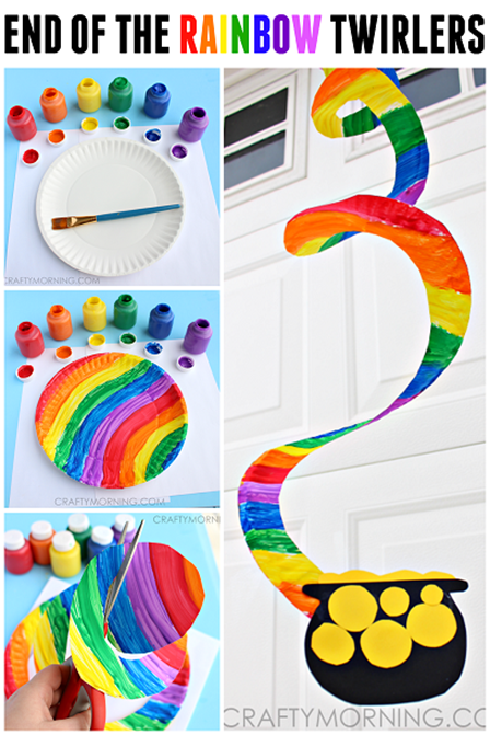 End of the Rainbow Paper Plate Twirler from Crafty Morning