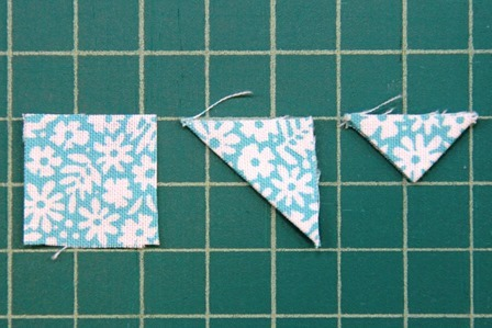 Folding banner triangles