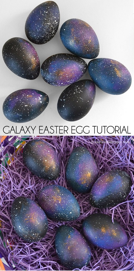 Galaxy Easter Eggs from Dream a Little Bigger