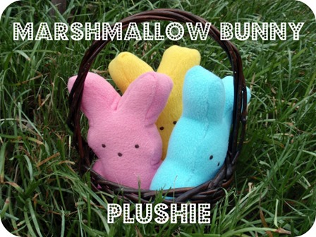 Marshmallow Bunny Plushie from Dandelions and Lace