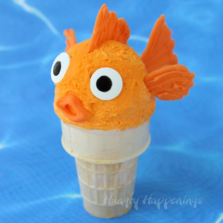 Orange Ice Cream Cone Goldfish from Hungry Happenings