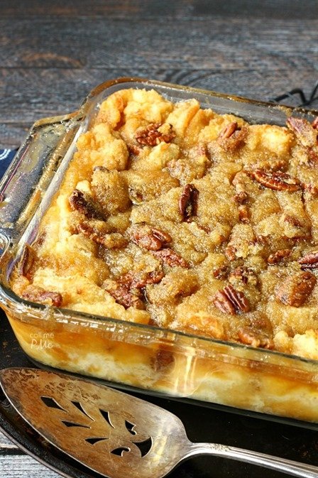 Pecan Pie Bread Pudding from Call Me PMC