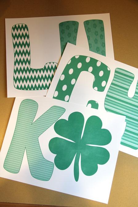 Printable Lucky Banner