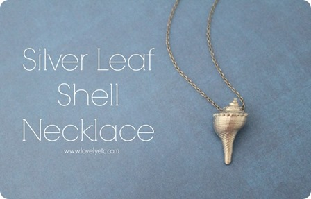 Silver Leaf Shell Necklace from Lovely Etc