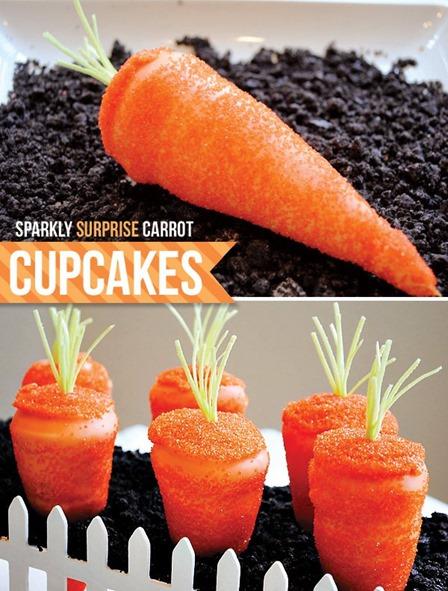Sparkling Surprise Carrot Cupcakes from Hostess with the Mostess