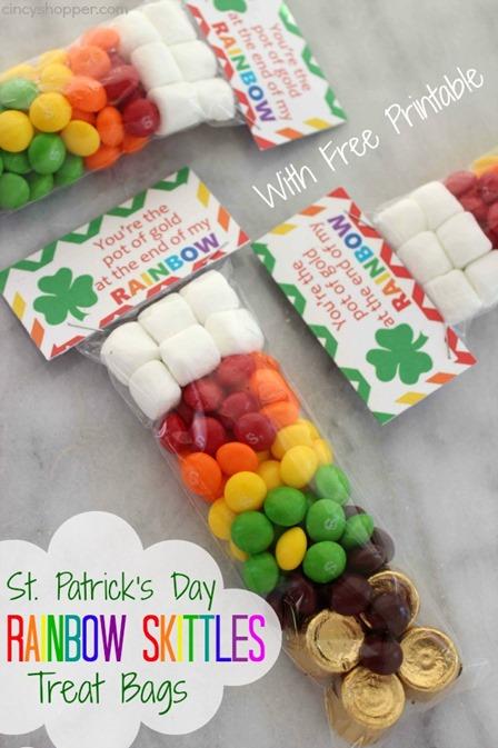 圣帕特里克节彩虹彩虹糖零食袋