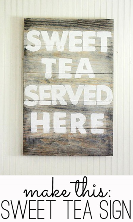 Sweet Tea Served Here Sign from The Shabby Creek Cottage