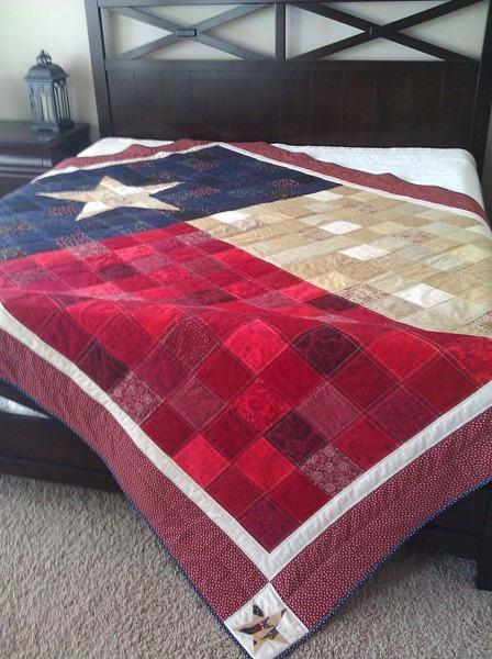 来自阿斯彭树店的德克萨斯国旗被子图案
