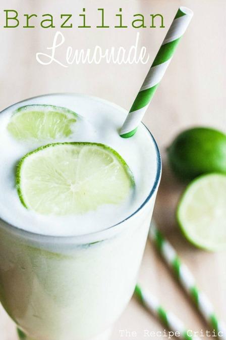 食谱评论家的巴西柠檬水