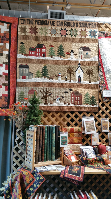 Christmas Display at Sew Many Quilts