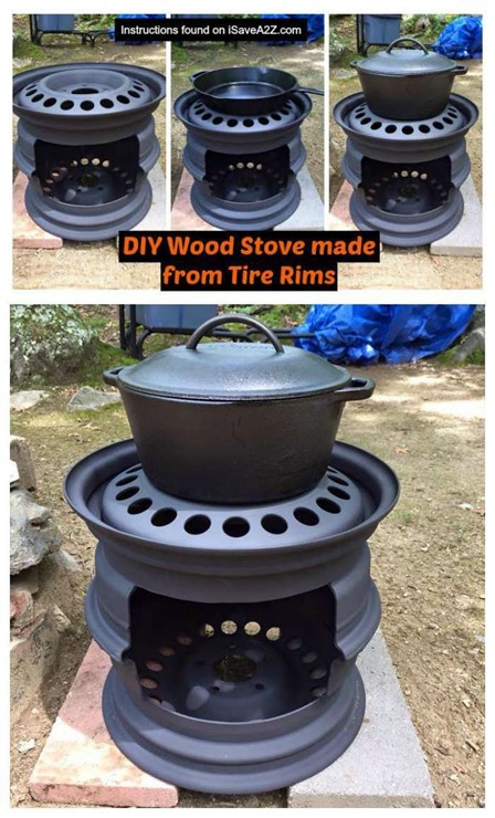 DIY Woodstove from I Save A2Z