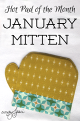 Hot Pad of the Month January Mitten by Crafty Staci
