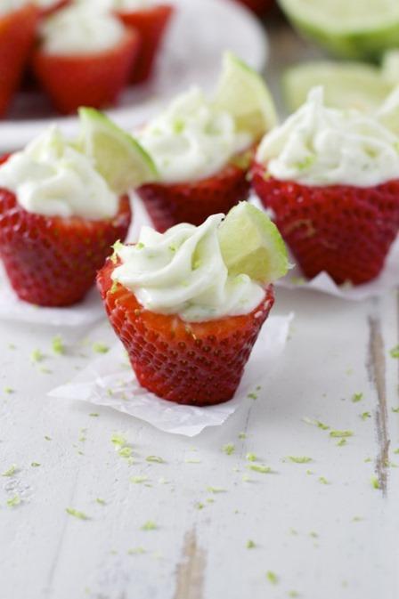 Maebells的酸橙派酿草莓