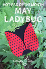 Ladybug Hot Pad of the Month from Crafty Staci