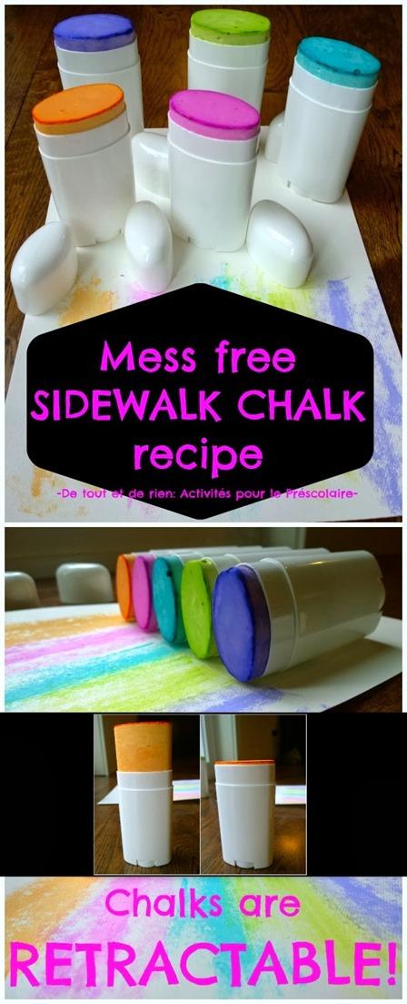 Mess Free Sidewalk Chalk from de Tout et de Rien