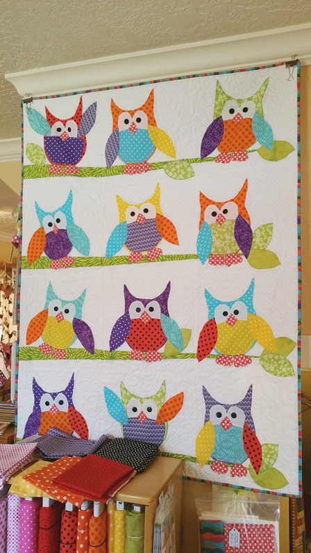 Owl Quilt at Material Girl Fabrics