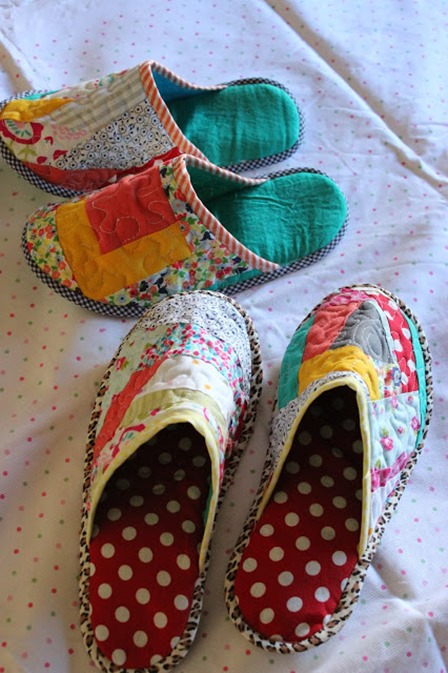 Patchwork Slippers from Through the Window