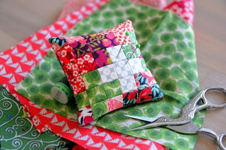 Pixel Play Pin Cushion from Easy Patchwork