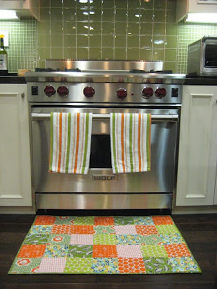 Quilted Kitchen Floor Mat from Sew We Stitch