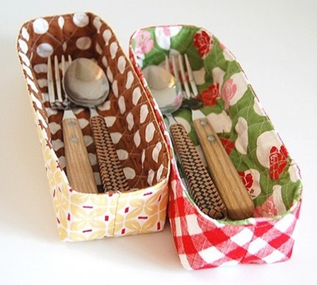 Quilted Organizing Baskets from Pink Penguin