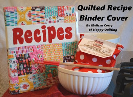 Quilted Recipe Binder Cover from Happy Quilting