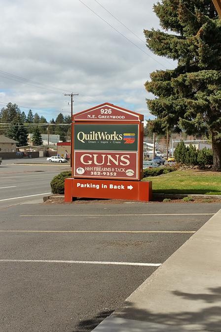 QuiltWorks and Guns - definitely Oregon