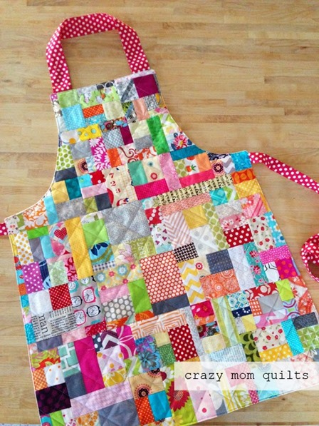 Scrap Happy Apron from Crazy Mom Quilts