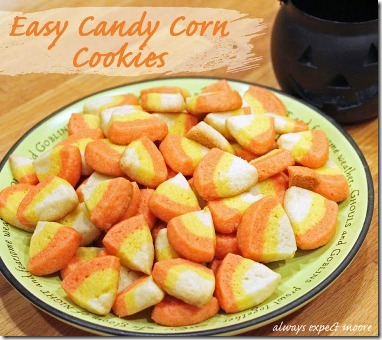 easy mini candy corn cookies