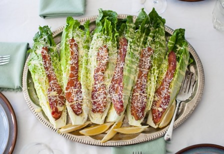 Caesar Wedge Salad with Bacon from Simple Bites