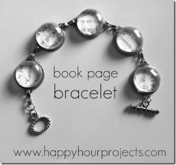 Mod Podge book page bracelet