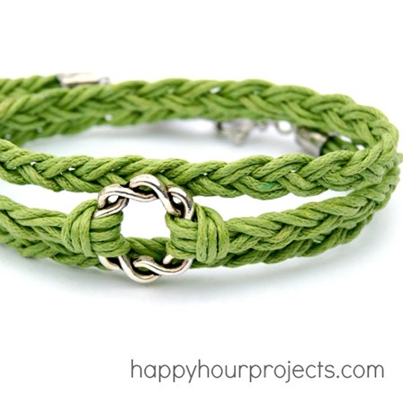 Easy Woven Wrap Bracelet from Happy Hour Projects
