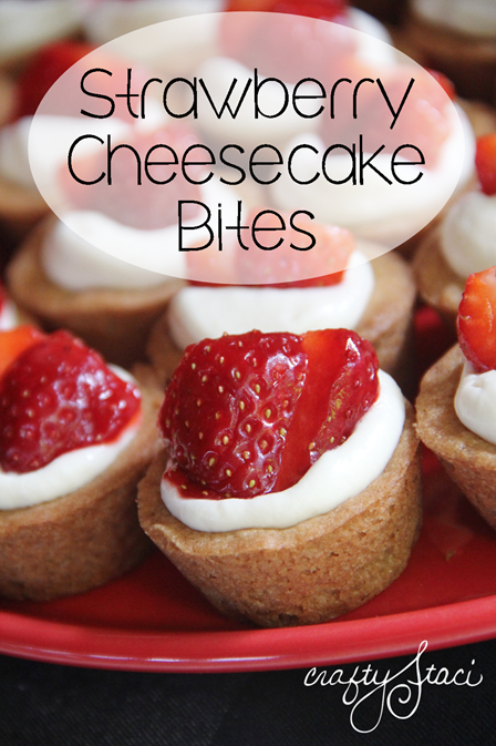 Strawberry Cheesecake Bites from Crafty Staci