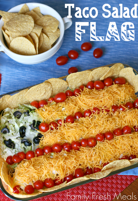 Taco Salad Flag from Family Fresh Meals