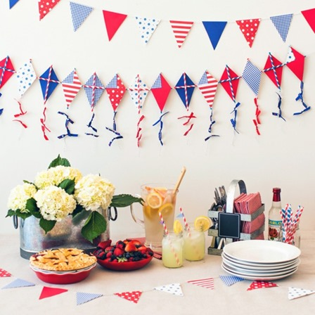 4th of July Kite Garland from Brit and Co