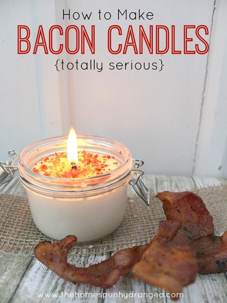 Bacon Candles from The Homespun Hydrangea