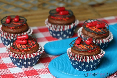 BBQ Cupcakes from A Mother Thing