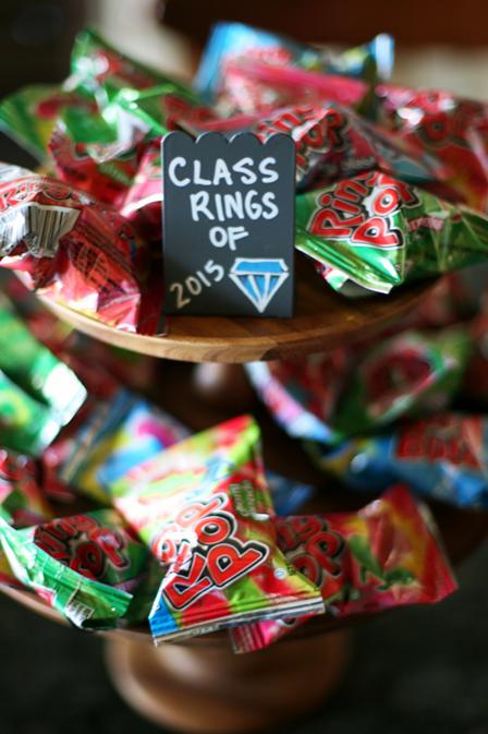我的生活在娱乐时间以毕业为主题的糖果甜品吧