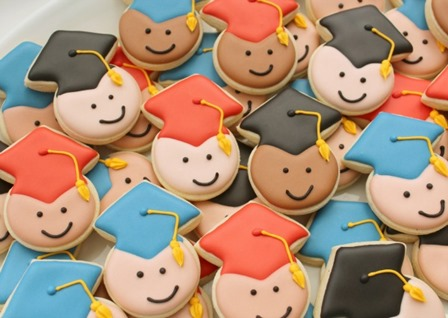 Miniature Graduation Cookies from Sweet Sugarbelle
